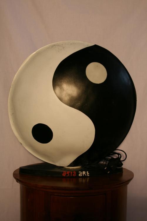Asiaart asia art sculpture bouddha en bois pierre dragon for Meuble ying yang